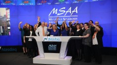 MSAA President & CEO Gina Ross Murdoch attends The Multiple Sclerosis Association Of America Rings The Nasdaq Stock Market Opening Bell at NASDAQ on March 11, 2016 in New York City.