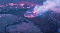 NASA Studies Volcanos and Coral Reefs from 65,000 feet