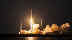 SpaceX's Falcon 9 rocket makes a successful launch with the SES-9 communications satellite on March 4, 2016 in Cape Canaveral, Florida