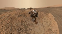 NASA's Curiosity Mars rover shows the vehicle at the 'Mojave' site, where its drill collected the mission's second taste of Mount Sharp.