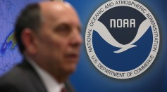 National Weather Service Director Louis Uccellini speaks during a news conference on a winter storm forecast January 21, 2016 at the NOAA Center for Weather and Climate Prediction in College Park, MD.
