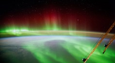 European Space Agency (ESA) on September 9, 2014, German ESA astronaut Alexander Gerst took this image of an aurora as he circled Earth whilst aboard the International Space Station (ISS)