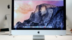 The new 27 inch iMac with 5K Retina display is displayed during an Apple special event on October 16, 2014 in Cupertino, California