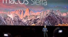 Craig Federighi, Apple's SVP of Software Engineering, introduces the new macOS Sierra software at an Apple event in San Francisco, California.