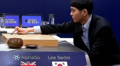 The first human vs machine match, between South Korean professional Go player Lee Se-Dol against Google's AlphaGo, on March 9, 2016 in Seoul, South Korea.