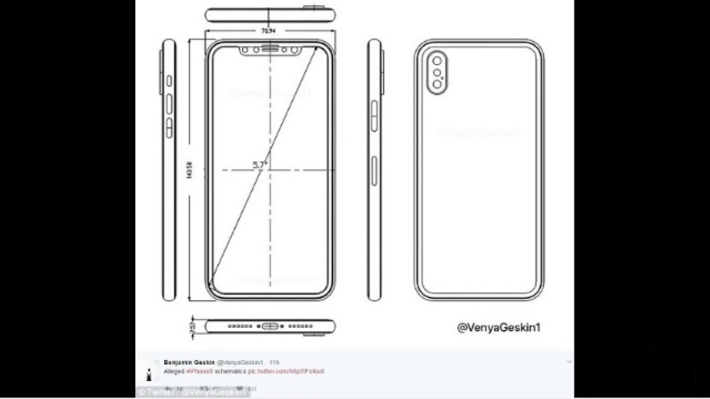 Leaked iPhone 8 Blueprint And Schematics Reveal Some Key