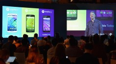 Rick Osterloh, President and COO of Motorola Mobility, unviels the company's latest smartphone portfolio including the new Moto G, Moto X Play and Moto X Style
