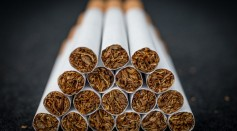 A close-up view of cigarettes on June 10, 2015 in Bristol, England