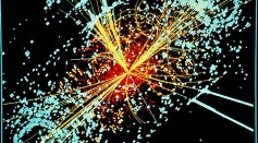 Particle collision pattern