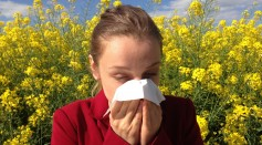 Lady with allergies