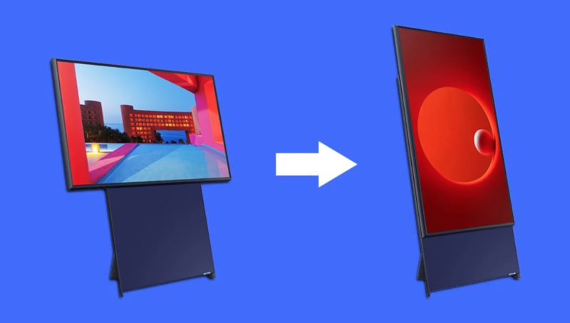 Samsung's from Landscape-to-Portrait Rotating TV for