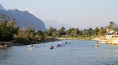 Mekong River As Seen In Laos