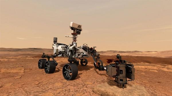 Science Times |  Weltraum - Marsrover Bohren von Gesteinsproben