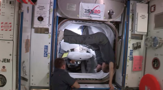 SpaceX Crew Dragon Demo-2 Undocks from the International Space Station