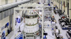 Installation of the Spacecraft Adapter Cone to the Orion Craft