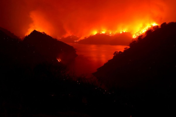 LNU Lightning Complex Fire Burns In Napa County