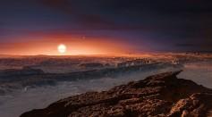 An artist's interpretation of the exoplanet Proxima b