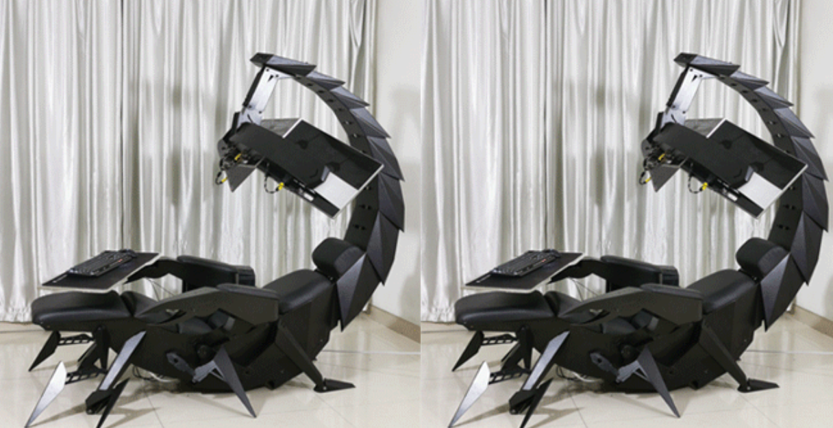 Game On Giant Robotic Scorpion Cockpit Is The Latest Gaming Chair In Town Science Times