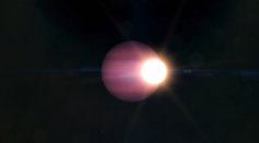 Potential Giant World Circles a Tiny Star