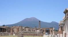Vesuvius as seen from Pompei