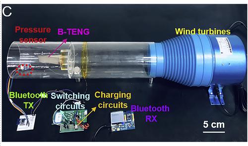B-TENG Device: Tiny Wind Turbine Harvets Energy From a Breeze