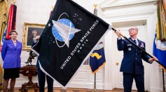 President Trump Signs An Armed Forces Day Proclamation And Participates In U.S. Space Force Flag Presentation