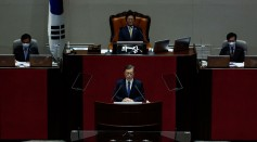 South Korean President Moon Jae-In Delivers Speech On Proposed 2021 Budget