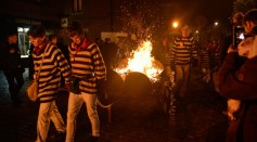 Lewes Bonfire Societies Put On Annual November 5th Display