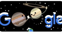 Google Doodle for the Great Conjunction