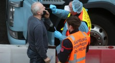 Travel To France Resumes As Lorry Drivers Receive Covid-19 Tests