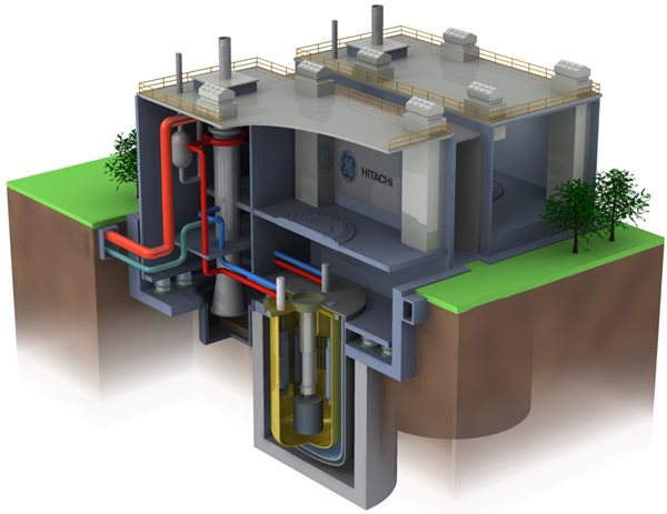 Rendering of a Small nuclear reactor