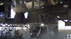 Core Stage Rockets at NASA's Hot Fire Test