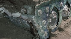 A Part of the Ornate Chariot Found in Pompeii