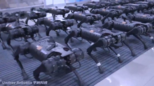 [WATCH] Chinese Robotics Firm's Squadron of Four-Legged Robots Moving In Unison