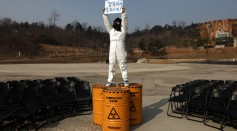 Rally Against Nuclear Radiation On 10th Anniversary Of Fukushima Disaster