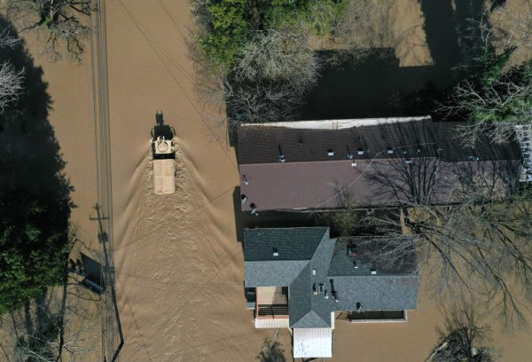 Sonoma County Town Of Guerneville Inundated With Flood Waters From