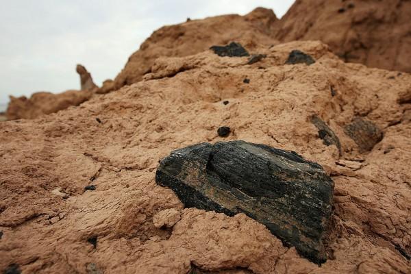 Obsidian Embedded in California
