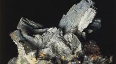 Close-up of arsenopyrite