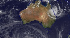 Sample Satellite Image Tracking a Cyclone