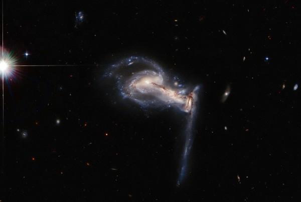 Hubble Spots Squabbling Galactic Siblings