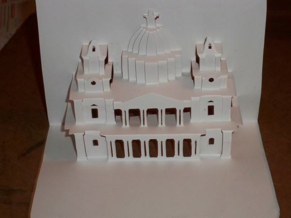 A Kirigami Structure of St. Paul's Cathedral