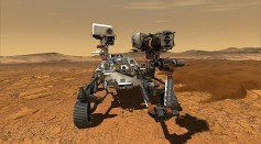 Sicence Times - NASA's Perseverance Rover Doesn't Just Search for Rocks, Dust on Surface of Mars; It Spots the Tiny Martian Moon, Too!