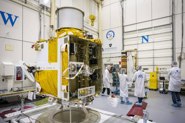 DART Gets Its Wings: Spacecraft Integrated with Innovative Solar Array Technology and Camera