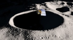Artists Concept of Moon and Probe
