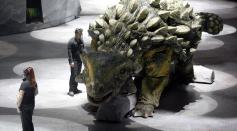 Animatronic model of a Ankylosaurus
