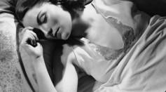 Portrait of woman in bed sleeping