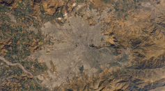 Astronaut Photo of Santiago, Chile taken from the International Space Station (ISS) during Expedition 4 on January 27, 2002.