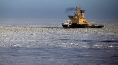 Yamal LNG liquefied natural gas plant under construction in northern Russia