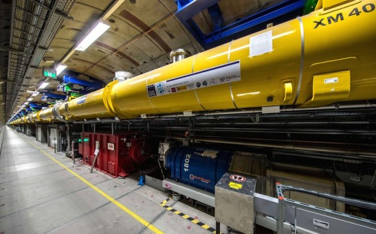 The latest picture of the European XFEL X-ray laser facility, a collaboration between DESY and 10 European countries in Hamburg, Germany.
