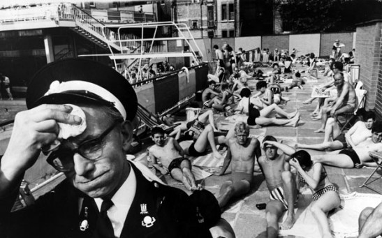 Holborn Oasis Swimming Pool in London During 1964 July Heat Wave